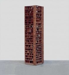 A wooden sculpture by Choucair