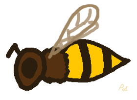 Cartoon Honeybee
