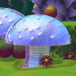 Polenth's Shiny Blue Mushroom
