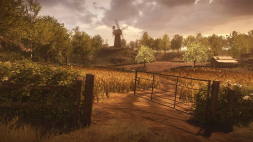 A farm field in the game